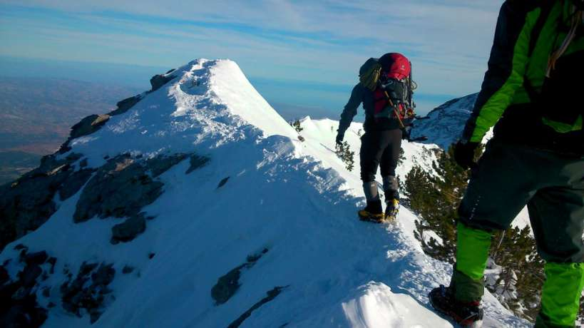 Зимско искачување на Олимп, 09-11.01.2015 1
