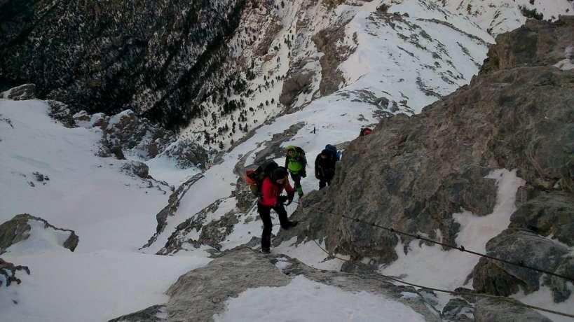 Зимско искачување на Олимп, 09-11.01.2015 2